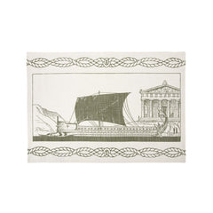 Dish Towels - Grecian Ship Tea Towel - Olive