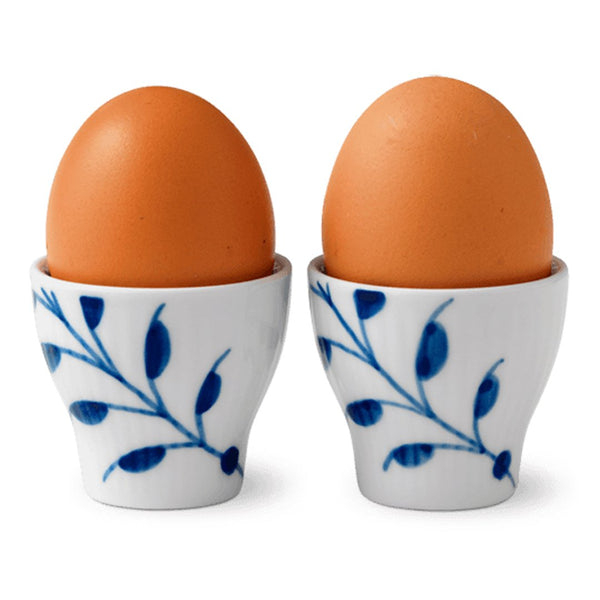 Blue Fluted Mega Egg Cups - Set of 2