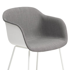 Fiber Chair - Sled Base, Front Upholstered