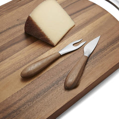 Curvo Cheese Set - Cheese Knife & Fork