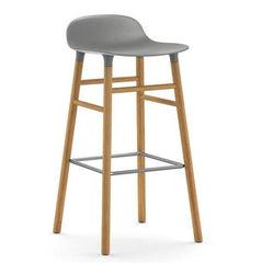 Form Counterstool - Wood Legs, Grey/Oak-25.5 inch - Outlet