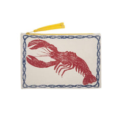 Handbags, Wallets & Cases - Lobster Sketch Canvas Pouch - Red