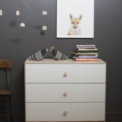 Merlin 3 Drawer Dresser with Rhea Base