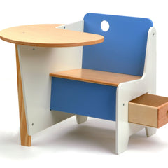 Kids Tables - Mini-Drawer Doodle Desk - Blue