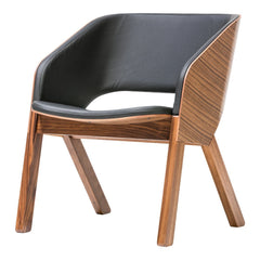 Merano Lounge Chair - Walnut Frame
