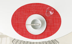 Oval Mini Basketweave Placemat