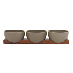 Case Study Small Bowls w/ Walnut Base