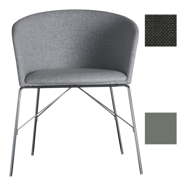 Moon Light 663TNS Office Chair - Libra Crevin 40 / RAL 7037 Dusty Grey - Outlet