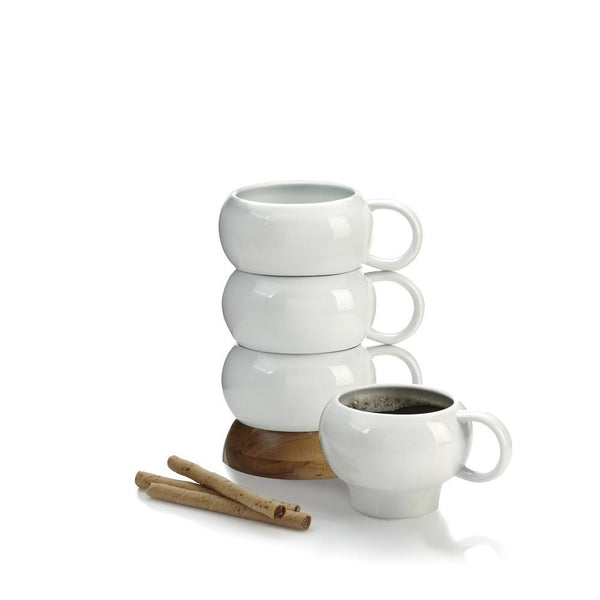 Mugs - Bulbo Ceramic Mug Stack - Set Of 4