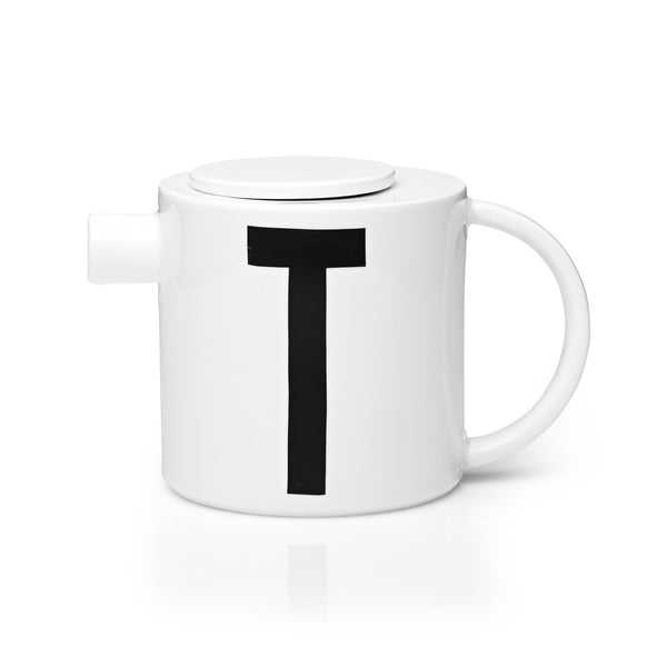 Design Letters Letter T Teapot with Lid