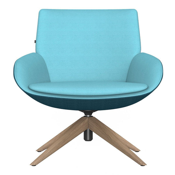 Noom Series 10 Bicolor Lounge Chair -  Pyramid Wood Legs