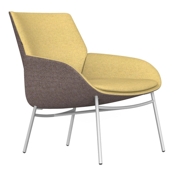 Noom Series 10 Bicolor Lounge Chair - Metal Legs
