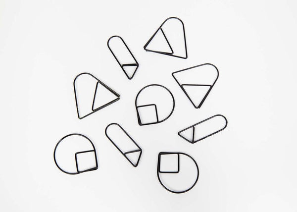 Office Supplies - Paper Clips, Set Of 9