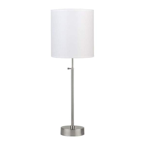 Outlet - CanCan 2 Adjustable Table Lamp - Brushed Nickel Base, Latte Chintz - Outlet