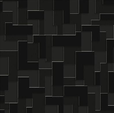 Checker (Nonwoven) Wallpaper - Black