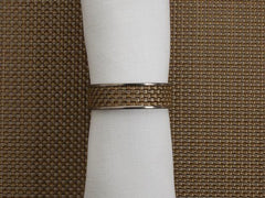 Outlet - Chilewich 1/2 Inch Mini Basketweave Napkin Ring - New Gold - Outlet