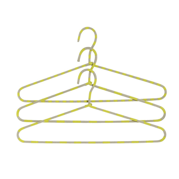 Outlet - Cord Hanger Stripe - Set Of 3 - Yellow Stripe - Outlet