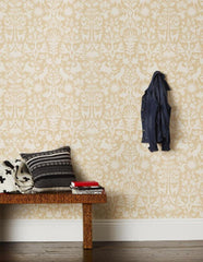 Outlet - Emily Isabella For Otomi In Cream Wallpaper - Outlet Item (Condition: Opened Box)