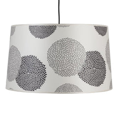 Outlet - Lights Up! Weegee Pendant Lamp - Black Mumm On Silk Shade - Outlet