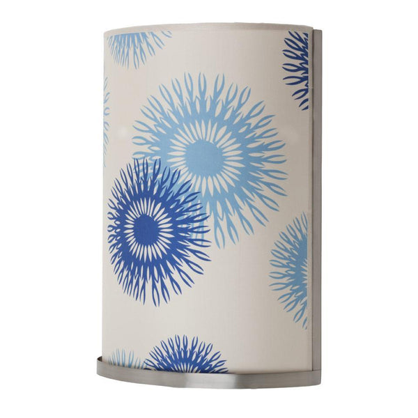 Meridian Large Wall Sconce - shade: blue cornflower silk - Outlet Item (Condition: Opened box)