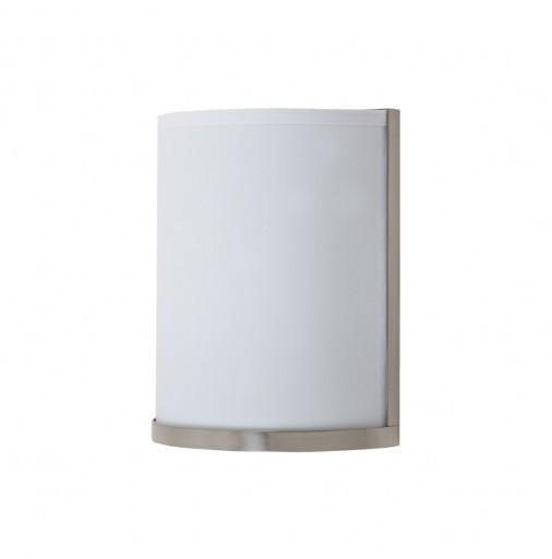 Outlet - Meridian Small Sconce - Brushed Nickel Base, Platinum Silk Glow Outlet Item (Condition: Opened Box)