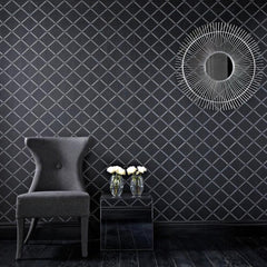 Outlet - Quantum Wallpaper - Black/Silver Outlet Item (Condition: Opened Box)
