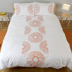 Outlet - Radial Bloom King Duvet Cover - Color: Bark On White Outlet Item (Condition: Opened Box)