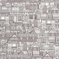 Tudor Homes Wallpaper - Outlet Item (Condition: Open Box)