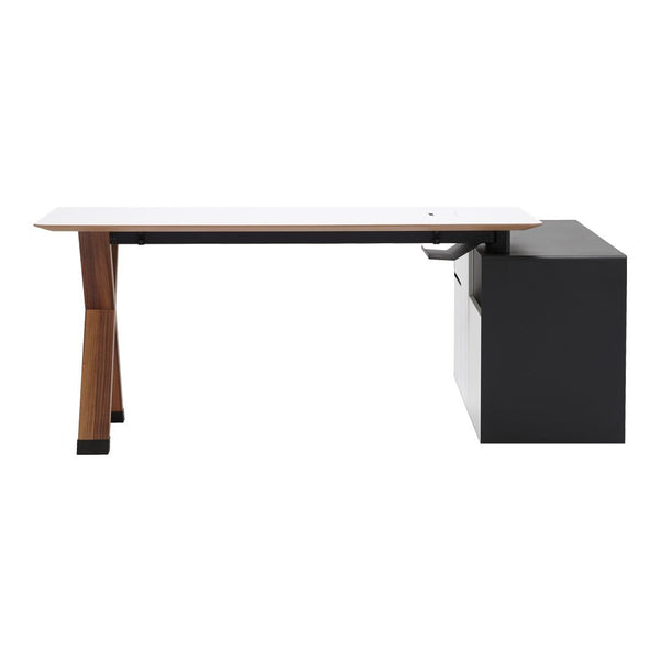 Partita Desk w/ Side Pedestal