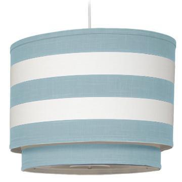 Double Cylinder Striped Pendant