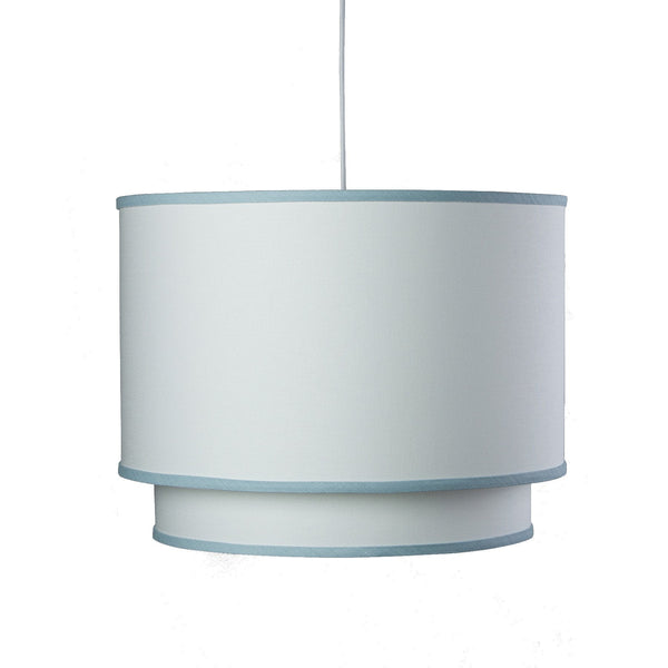 Double Cylinder White w/ Trim Pendant