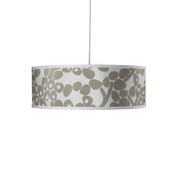 Modern Berries Shallow Large Cylinder Pendant