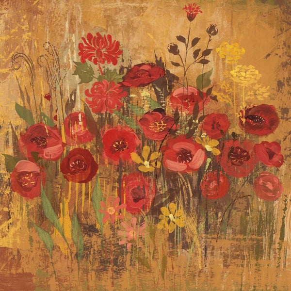 Floral Frenzy Red VI Painting