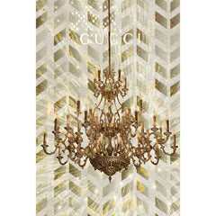 Gold Chandelier Painting