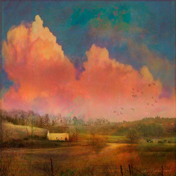 Pastoral Sunset Painting