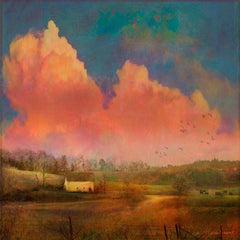 Posters & Prints - Pastoral Sunset Painting