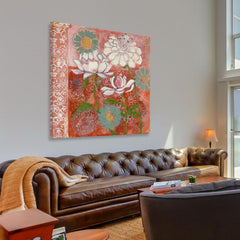 Posters & Prints - Peonia And Dahlia Painting