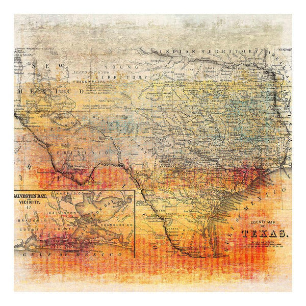 Posters & Prints - Texas Map Painting