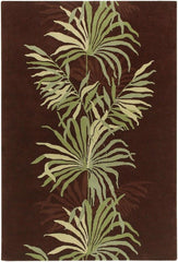 Rugs - Aschera 6403 Area Rug - Dark Brown/Green