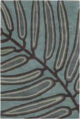 Rugs - Aschera 6404 Area Rug - Blue/Dark Brown