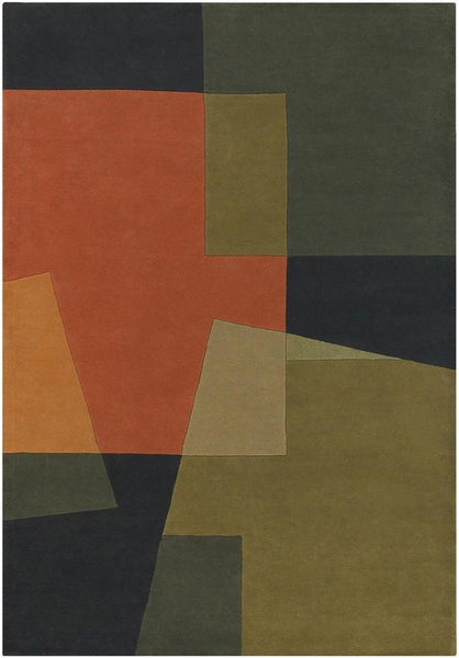 Bense 3014 Rug - Green/Orange