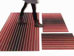 Rugs - Block Stripe Shag Doormat