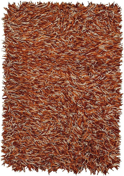 Cyrah 1080 Shag Area Rug - Red/Orange/Ivory