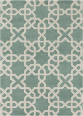 Davin 25800 Rug - Light Aqua/White