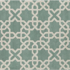 Rugs - Davin 25800 Rug - Light Aqua/White