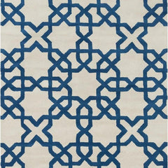 Rugs - Davin 25803 Rug - White/Blue