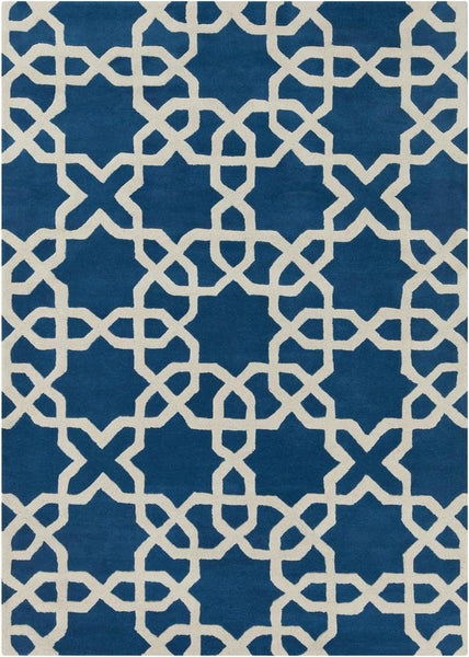 Rugs - Davin 25804 Rug - Blue/White