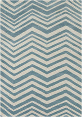 Rugs - Davin 25807 Rug - White/Blue
