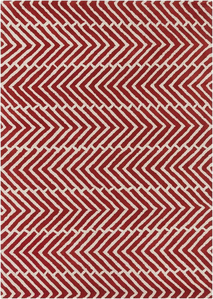 Rugs - Davin 25810 Rug - Red/White