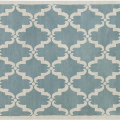Rugs - Davin 25827 Rug - Light Aqua/White